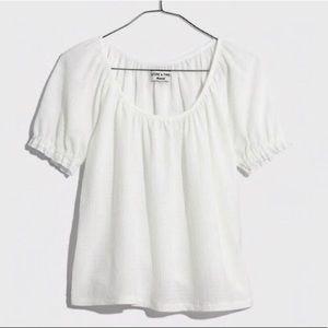 Madewell | Puffed Sleeve Peasant Blouse